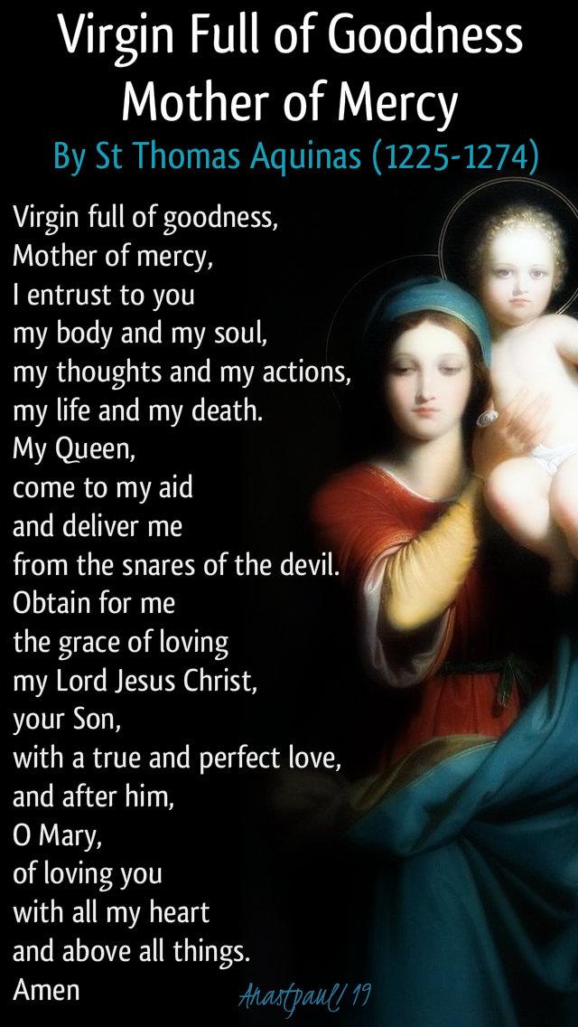 virgin full of goodness mother of mercy - st thomas aquinas 15 jan 2019.jpg