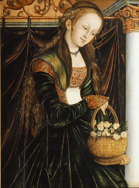 444px-Cranach,_Lucas,_d.Ä._-_Die_Heilige_Dorothea_-_c._1530.jpg