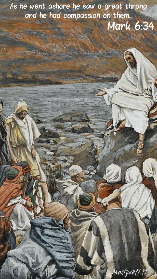 as he went ashore he saw a great multitude mark 6 34 - 9 feb 2019.jpg