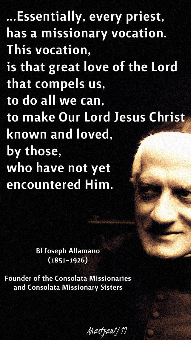 essentially, every priest - bl joseph allamano 16 feb 2019