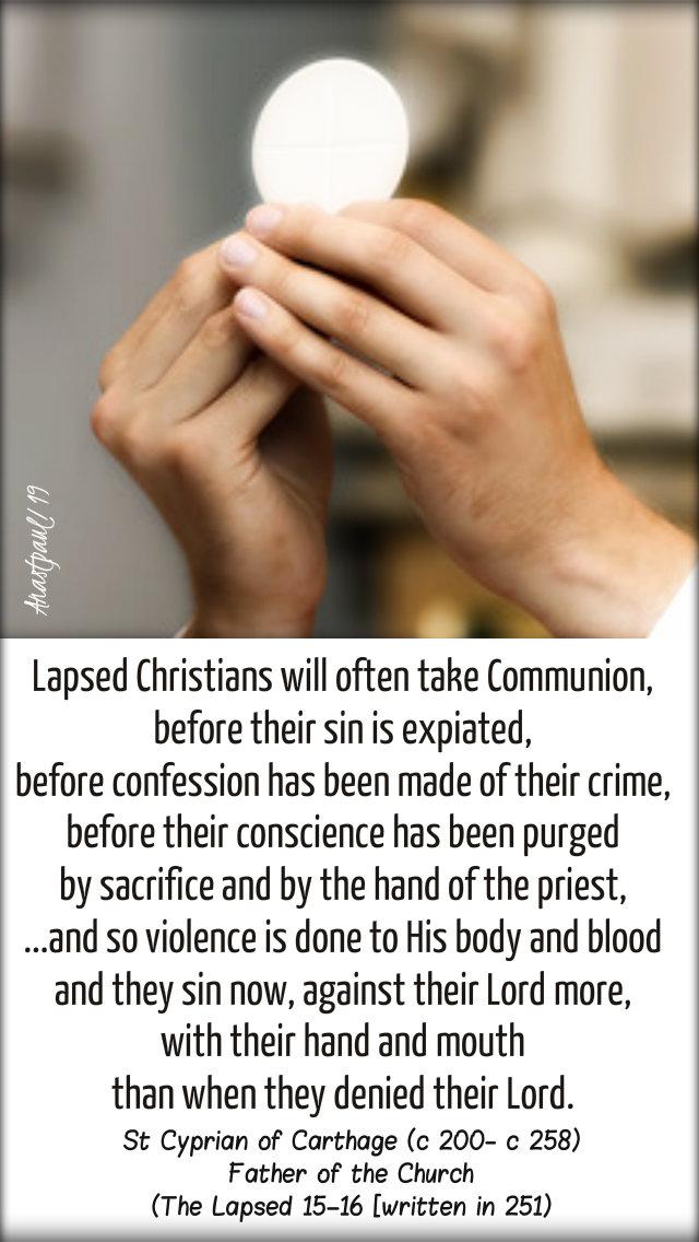 lapsed christians - st cyprian of carthage - 3 feb 2019 sun reflec.jpg
