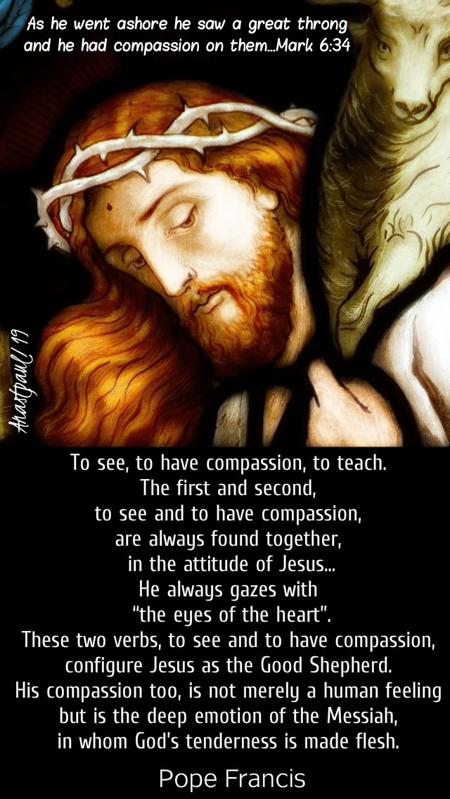mark 6 34 - to see to have compassion to teach - pope francis 9 feb 2019.jpg