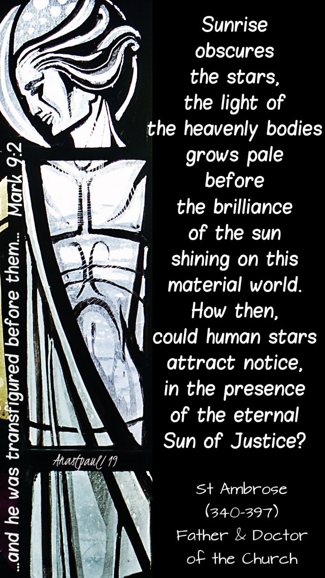 mark 9 2 and he wwas transfigured - sunrise obscures the stars st ambrose 23 feb 2019.jpg