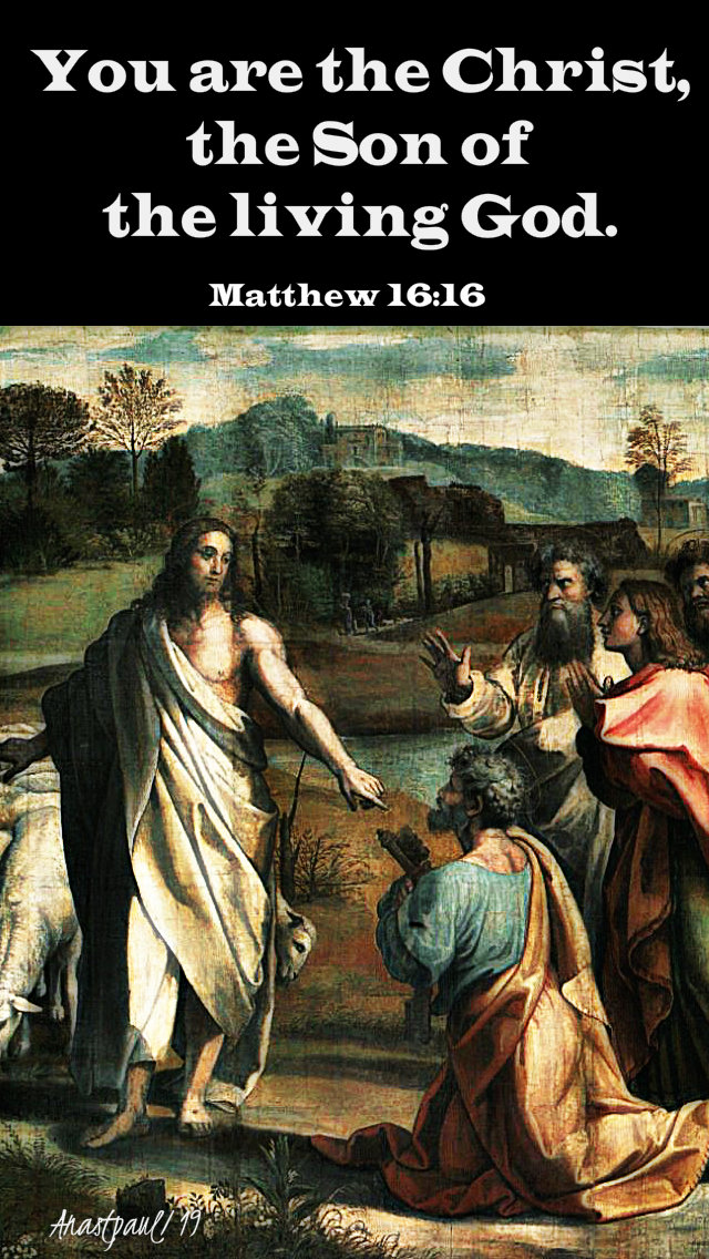 matthew 16 16 you are the christ the son of the living god 22feb2019.jpg