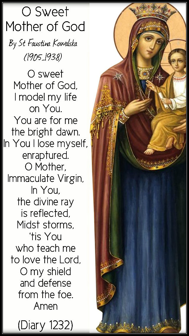 o sweet mother of god - st faustina 23 feb 2019.jpg