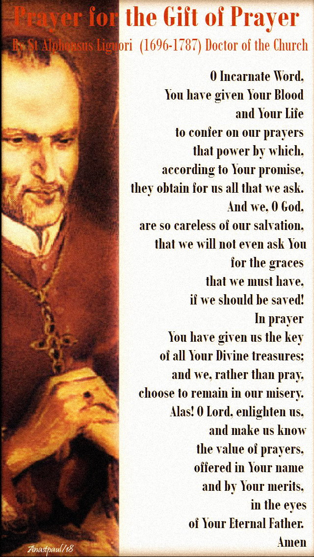 prayer for the gift of prayer - st alphonsus liguori 2nd time 20 feb 2019.jpg