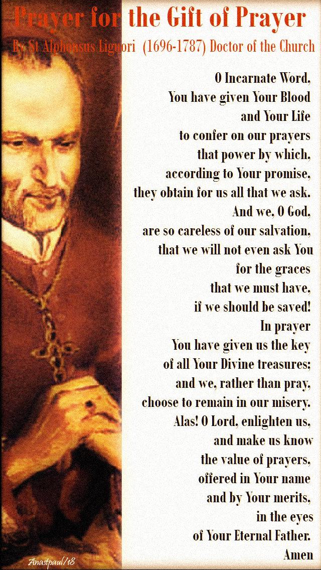 prayer for the gift of prayer - st alphonsus liguori 2nd time 20 feb 2019.jpg