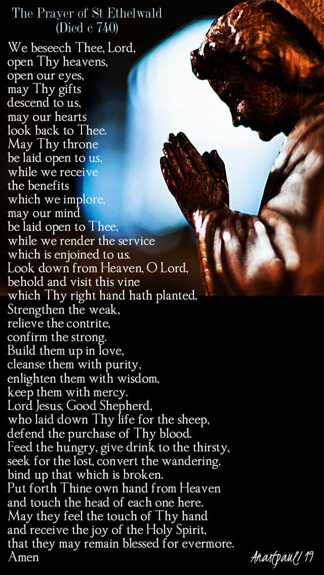 the prayer of st ethelwald 12 feb 2019