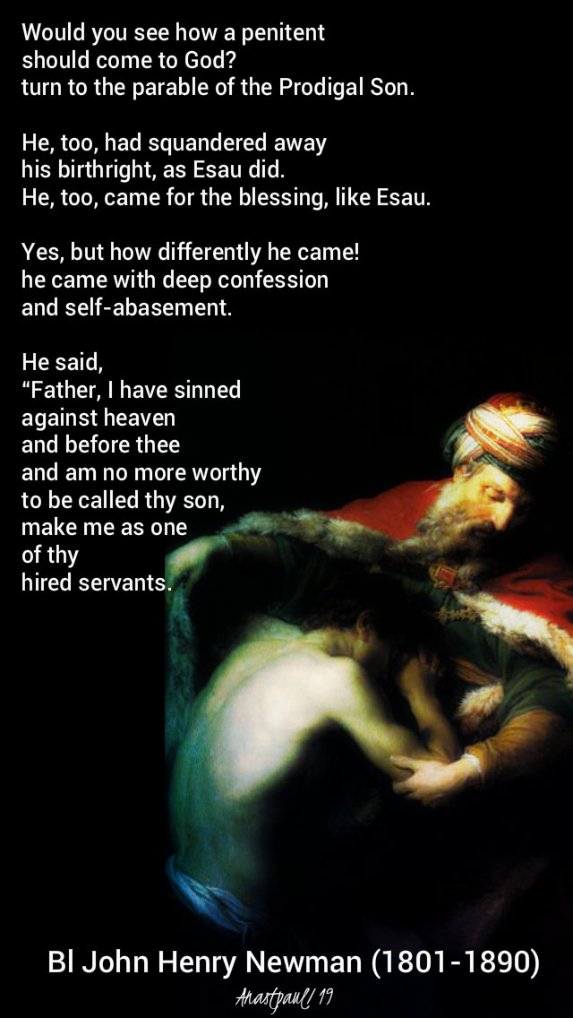 would you see how a penitent should come to god - bl john henry newman - 1 march 2019 - lent prep novena