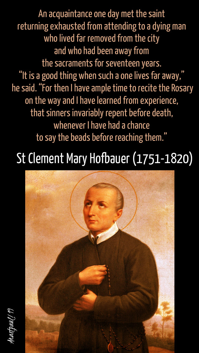 it is a good thing when such a one - st clement mary hofbauer - 15 march 2019.jpg