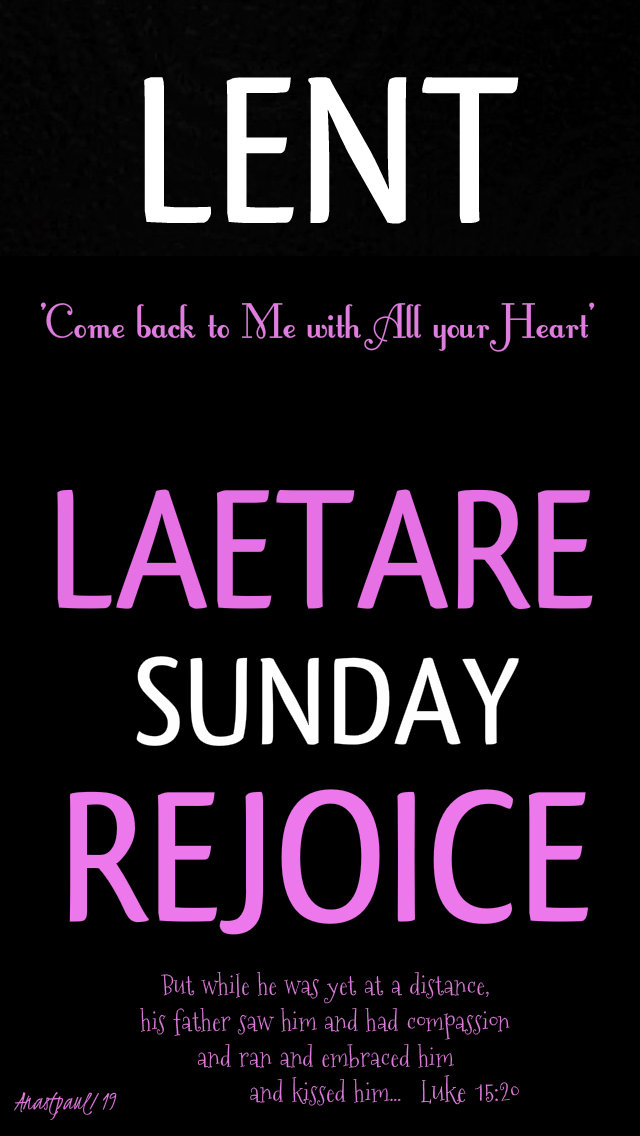 lent - laetare sunday 4th sun of lent 31 march 2019.jpg