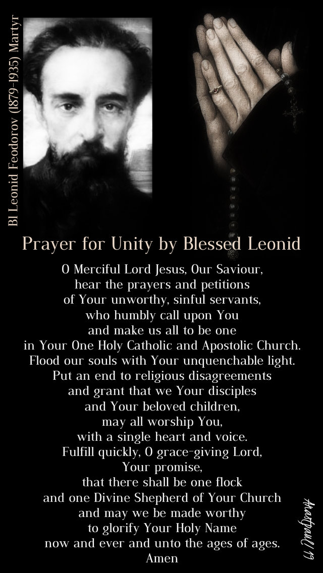prayer for unity by bl leonid feodorov - 7 march 2019.jpg