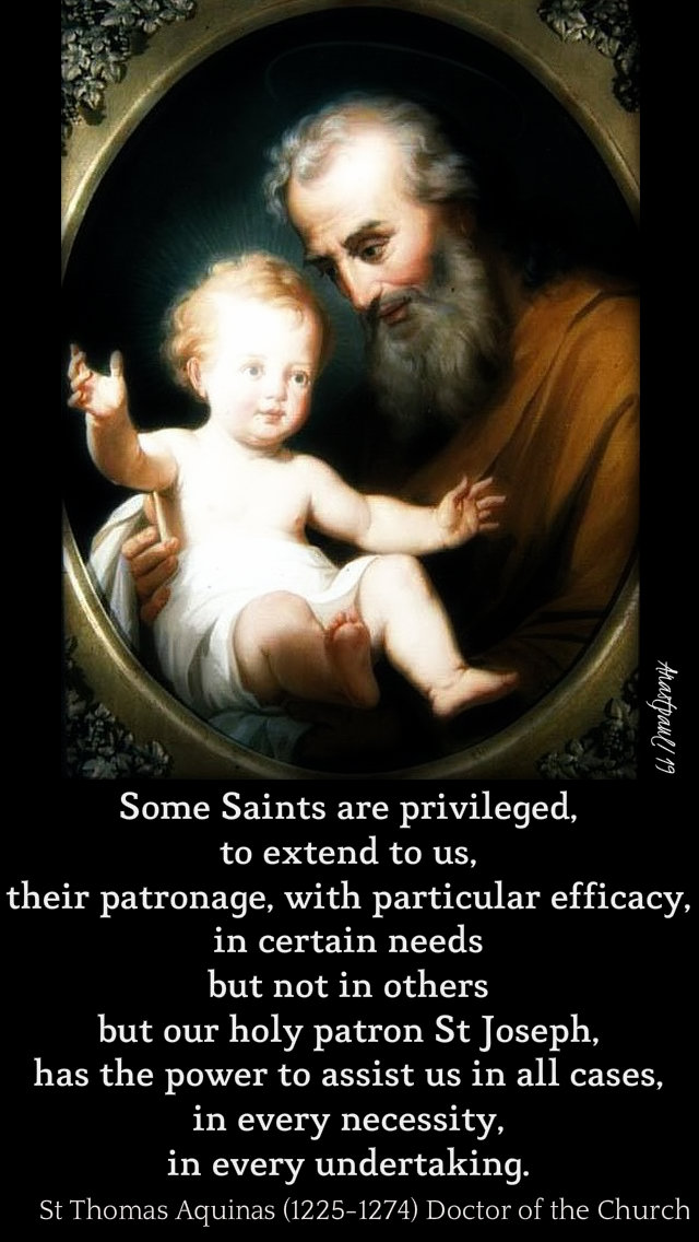 some saints are privileged...but st joseph - st thomas aquinas 19 march 2019.jpg
