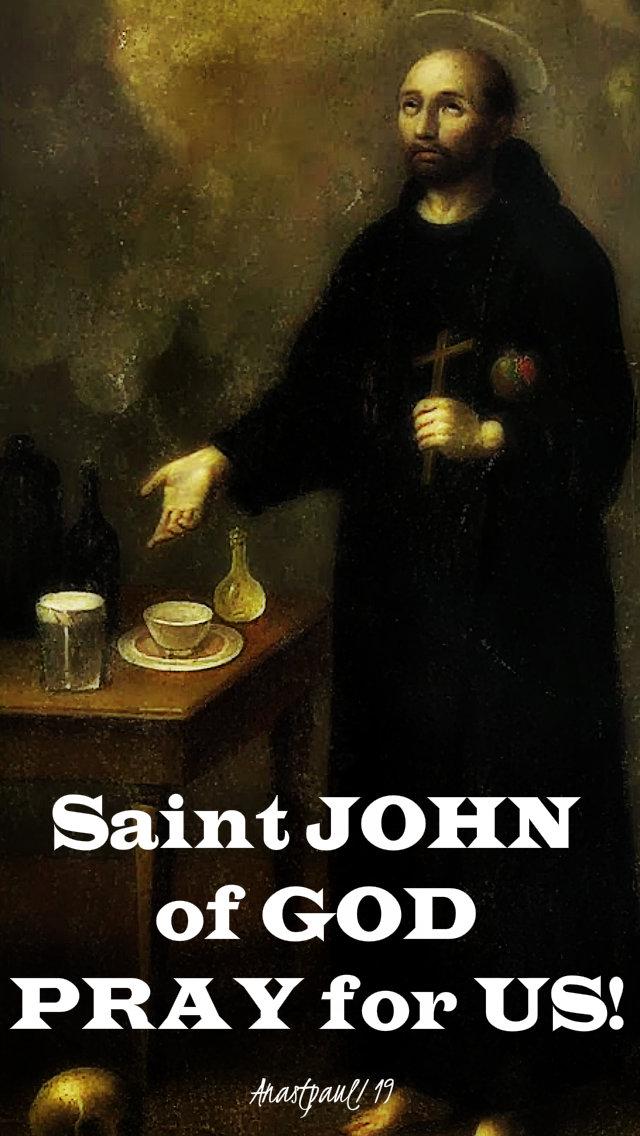 st john of god pray for us 8 march 2019