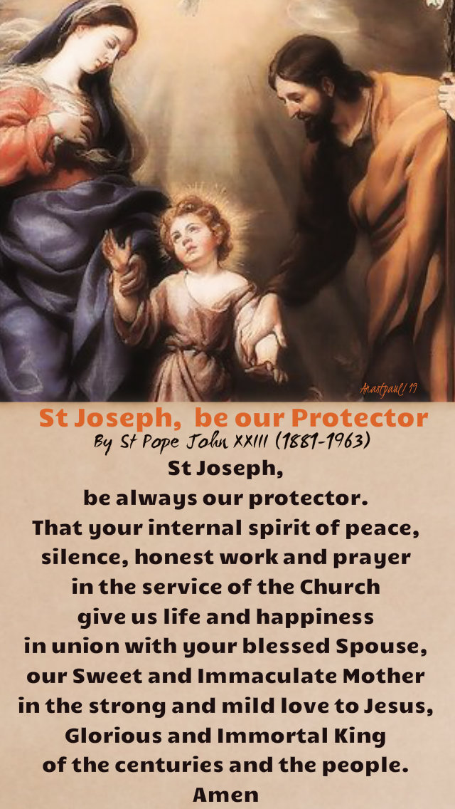 st joseph be our protector - st pope john XXIII 19 march 2019.jpg