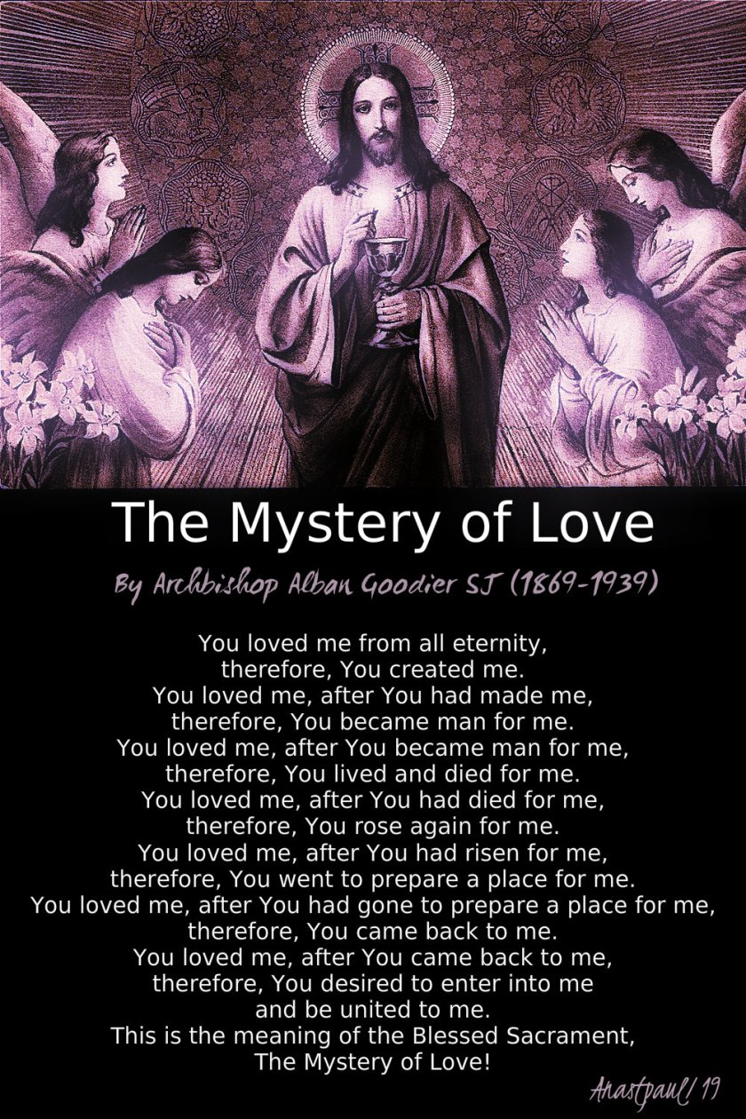 The mystery of love - sun reflec 17 march 2019 - archbishop alban goodier.jpg