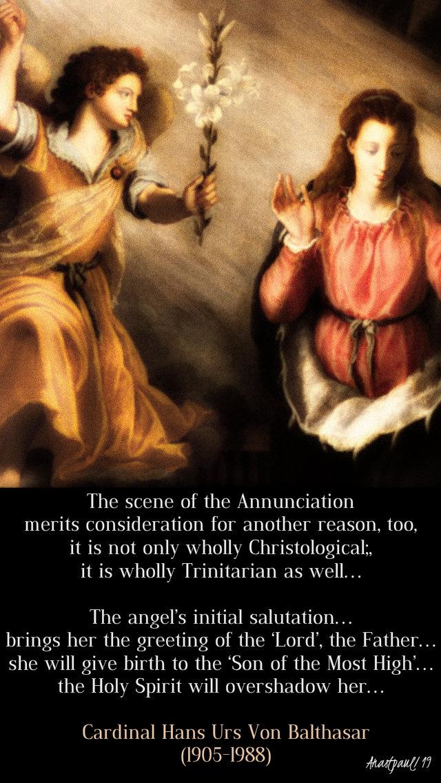 the scene of the annunciation - hans urs von balthasar - 25 march 2019.jpg