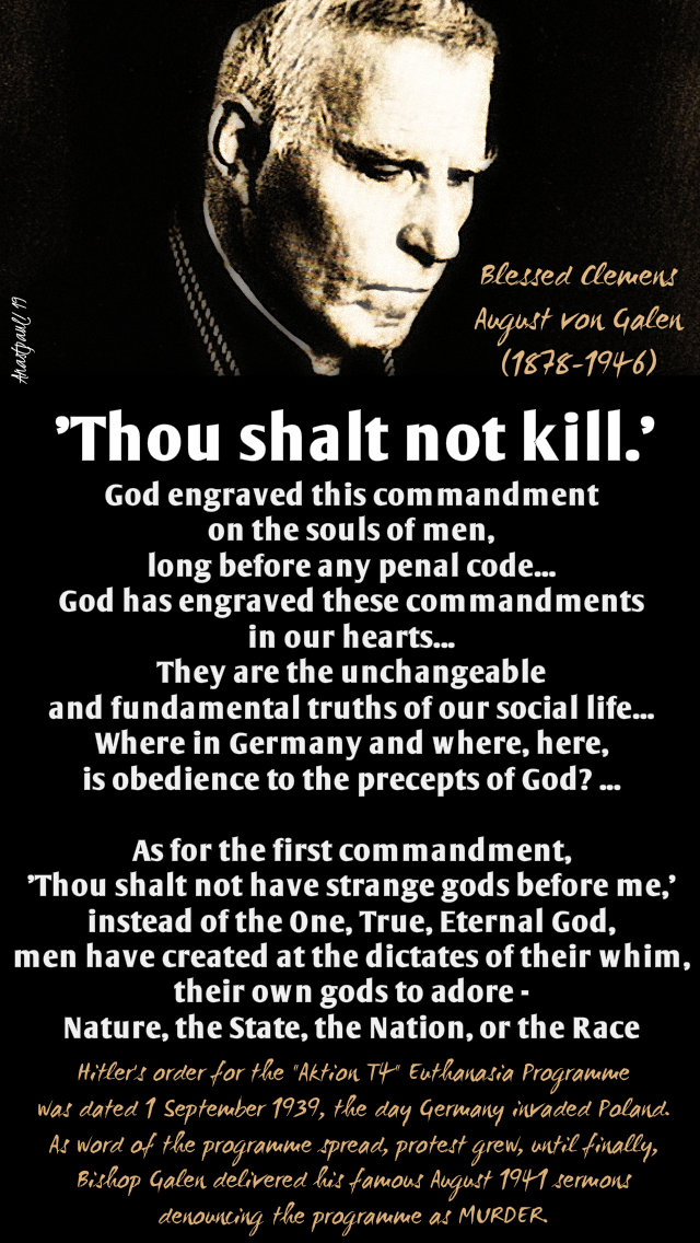 thou shalt not kill - bl clemens august von galen 22 march 2019.jpg