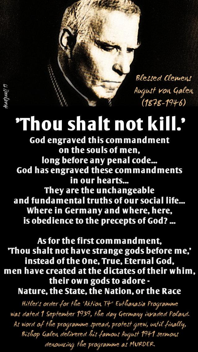 thou shalt not kill - bl clemens august von galen 22 march 2019.jpg