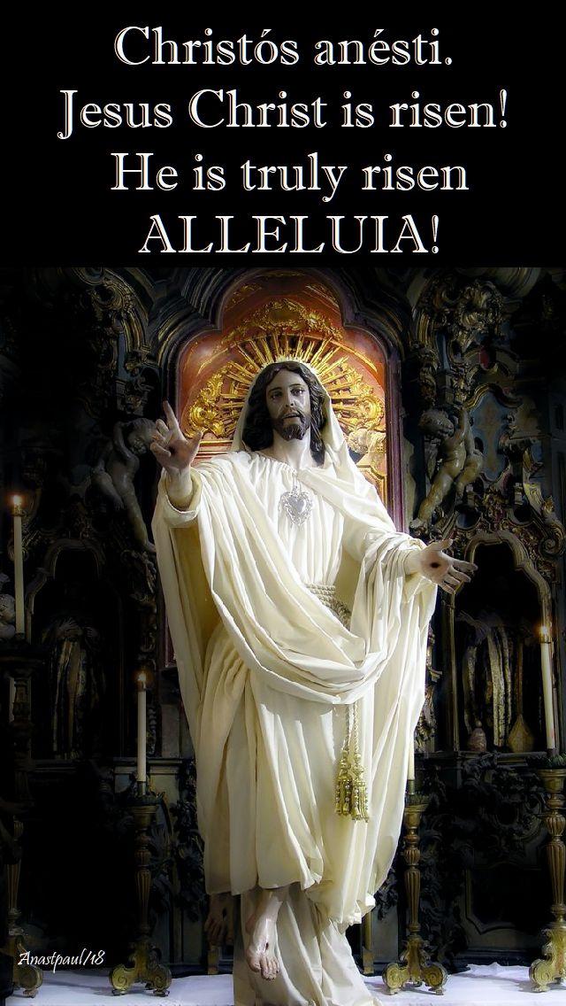 Christ is risen - easter sunday - christc3b3s-anc3a9sti-1-april-2018