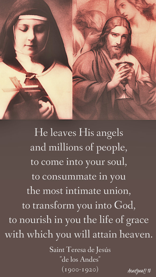he leaves his angels and - st teresa de los andes 12 april 2019.jpg