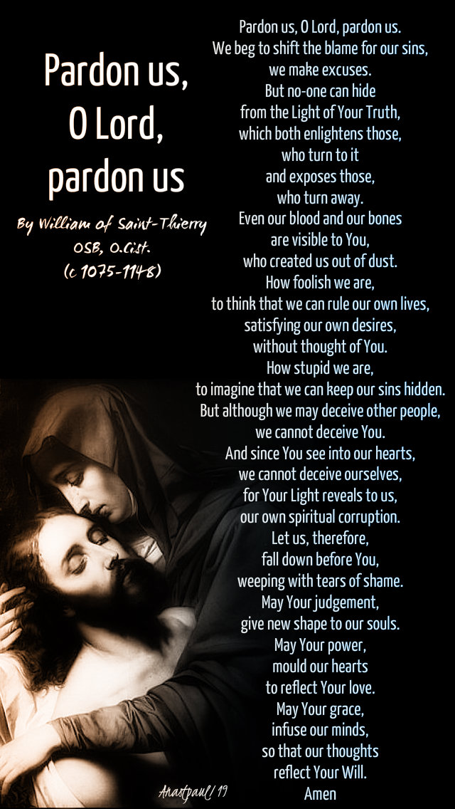 pardon us o lord pardon us by william saint thierry - 20 april 2019 holy sat.jpg