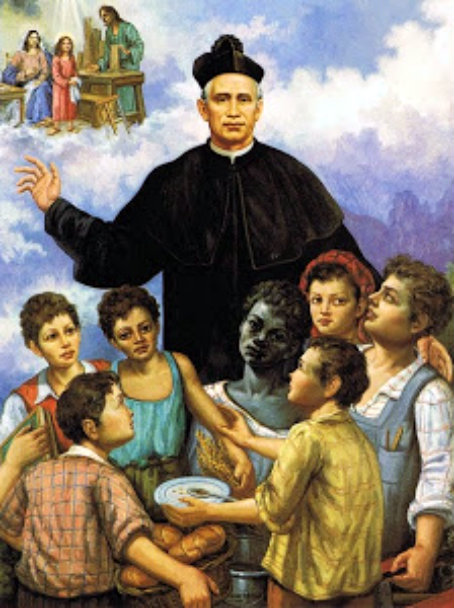 st giovanni piamarta with children