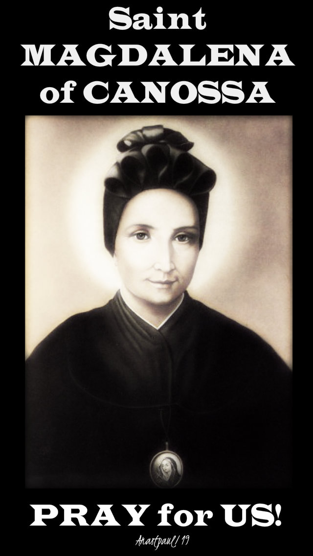 st magdalena of canossa pray for us 10 april 2019