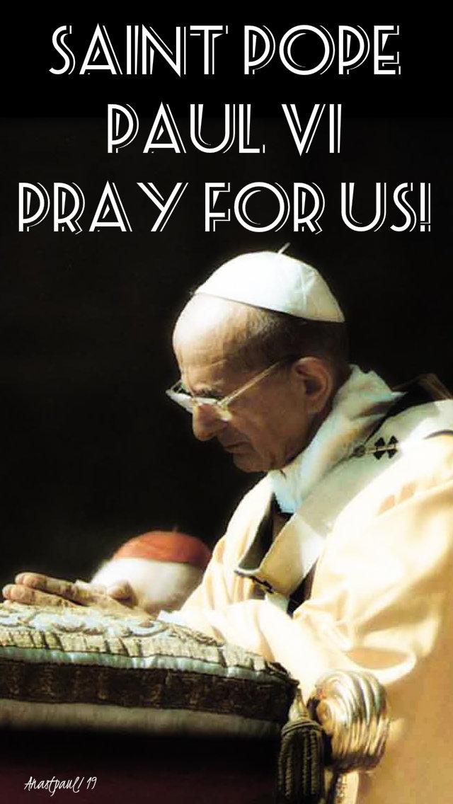 st pope paul vi pray for us 30 april 2019