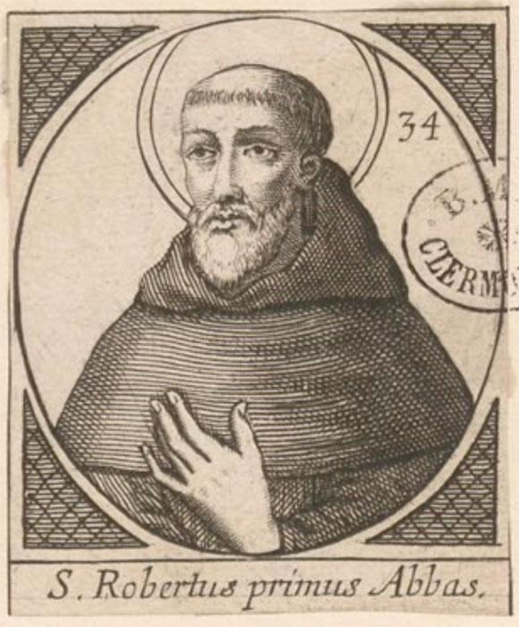 st robert engraving of chaise-dieu