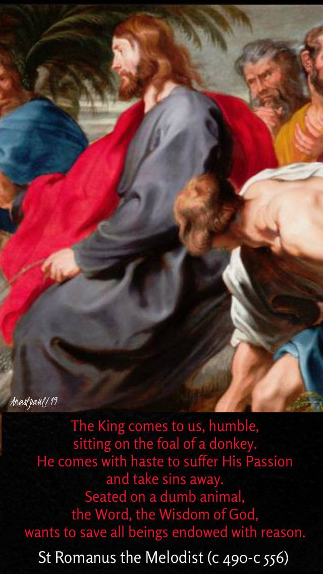 the king comes to us humble sitting - 14 april 2019 palm sunday.jpg