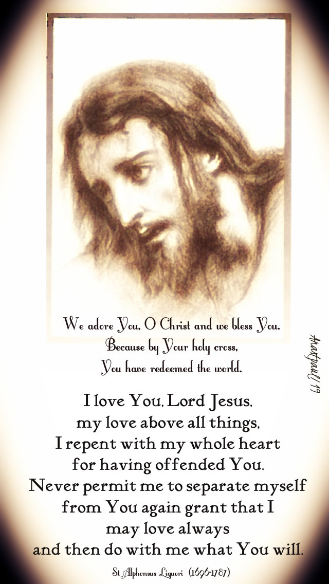 we adore you o christ - i love you lord jesus - st alphonsus - stations 15 april 2019.jpg