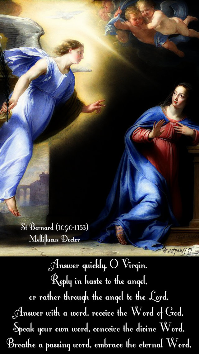 answer quickly o virgin - st bernard - 11 may 2019 homily on the annunciation.jpg