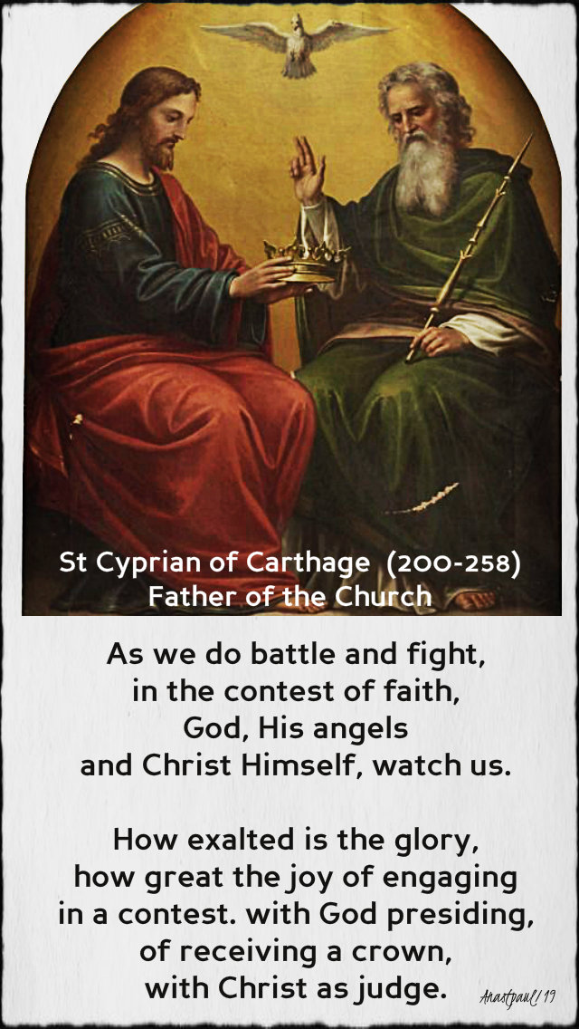 as we do battle and fight - st cyoprian of carthage - 6 may 2019 the contest of faith