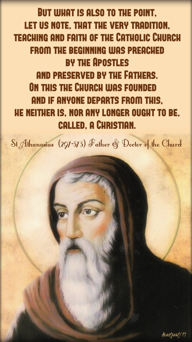 but what is also to the point let us note - st athanasius 2 may 2019