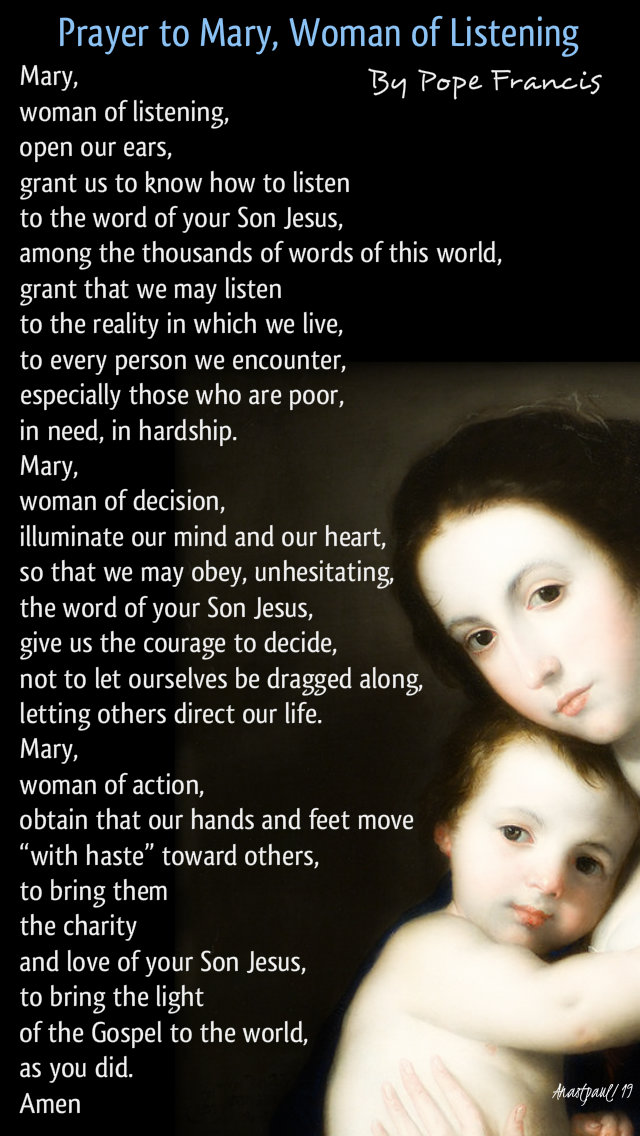 pray to mary, woman of listening - pope francis - 6 may 2019.jpg