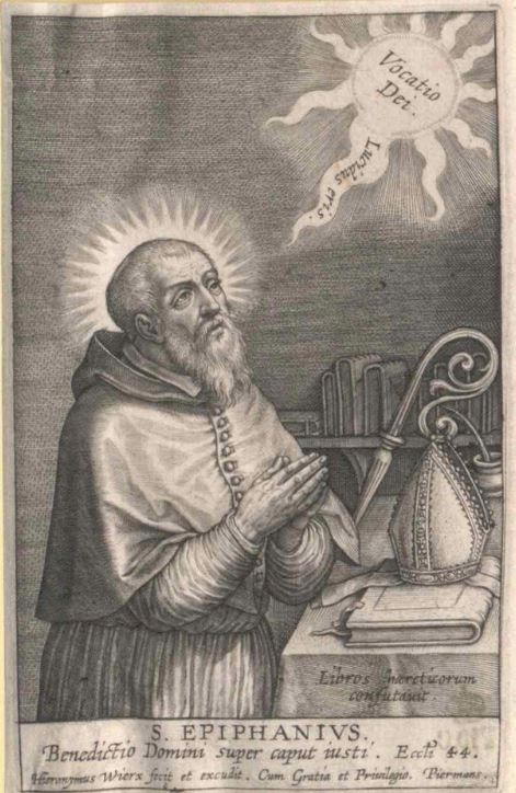 st epiphanius at prayer engraving.JPG