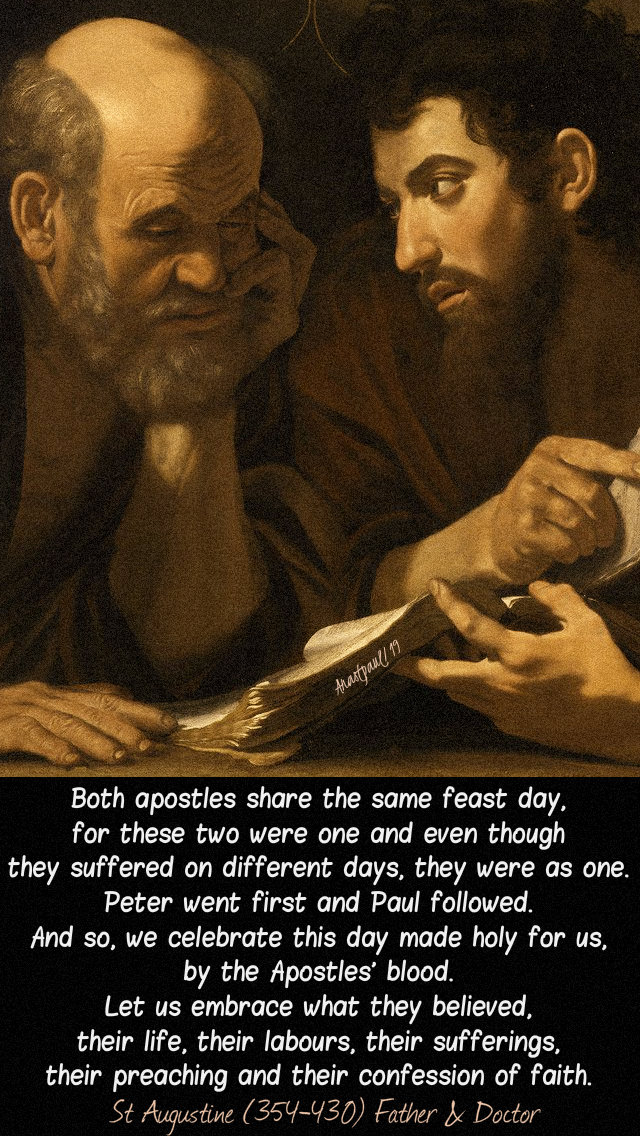 both apostles share the same feast day - st augustine sts peter and paul 29 june 2019.jpg
