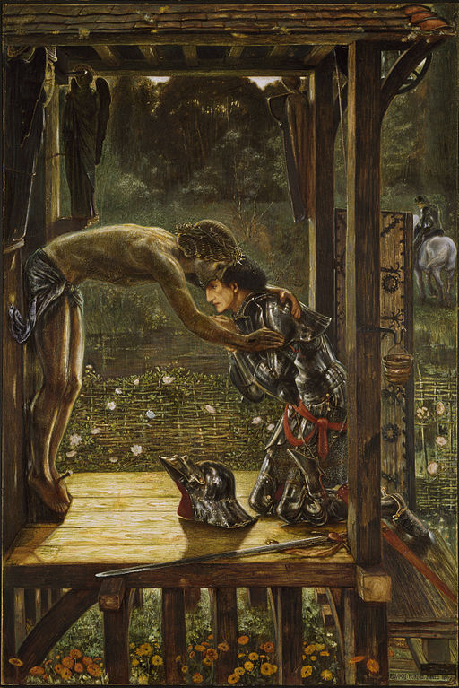 512px-Edward_Burne-Jones_-_The_Merciful_Knight. st john gualbert - wow!jpg.jpg
