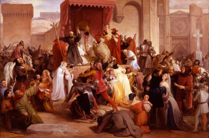 Artgate_Fondazione_Cariplo_-_Hayez_Francesco,_Papa_Urbano_II_sulla_piazza_di_Clermont_predica_la_prima_crociata.jpg
