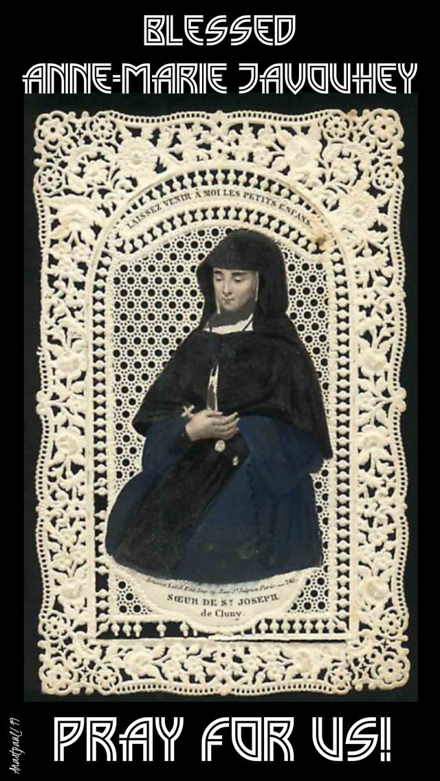 bl anne-marie javouhey pray for us 15 july 2019