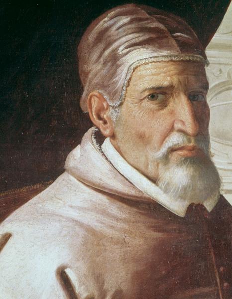 Papst Urban II. / Gem.v.Zurbaran - Pope Urban II / Zurbaran / 163-/35 - Pape Urbain II / Peint. de Zurbaran