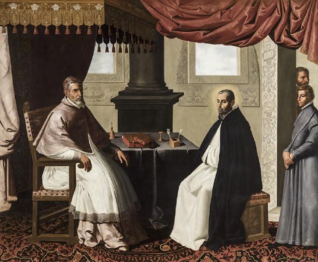 Francisco de Zurbarán - La visita de San Bruno y el Papa Urbano II