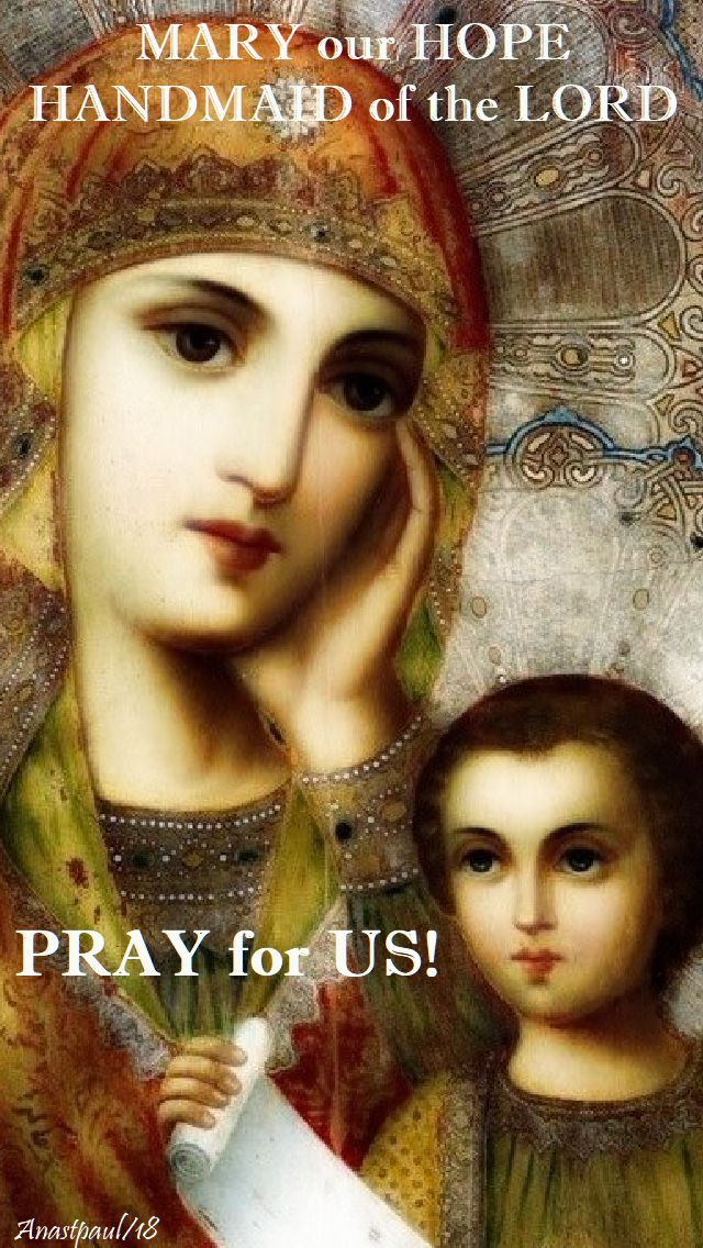 mary our hope handmaid of the lord - pray for us - 26 june 2018