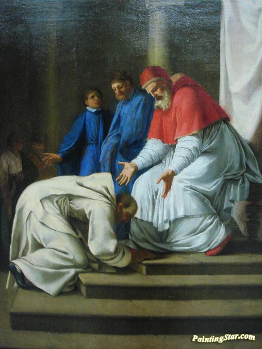 Saint Bruno at the Feet of Pope Urban II Artwork by Eustache Le Sueur