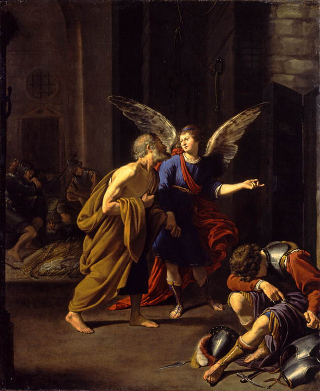 st peter being led away by the angel prison chains.jpg