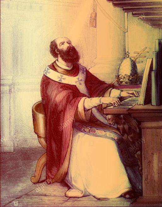 st pope leo II snip alamy