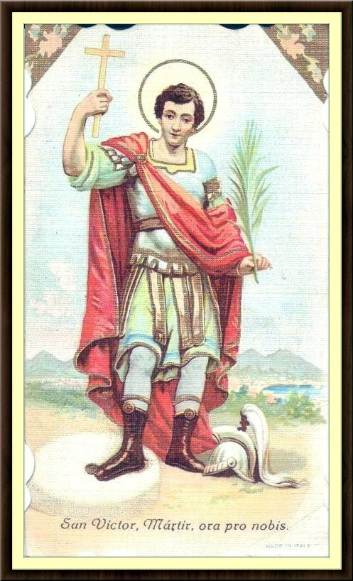 ST VICTOR HOLY CARD