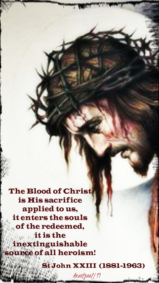 the blood of christ is his sacrifice - st john XXIII 1 july 2019.jpg