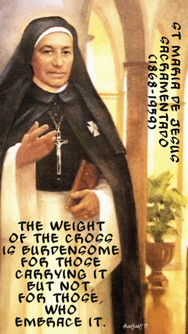 the weight of the cross - st maria de jesus sacramentado 30 july 2019.jpg